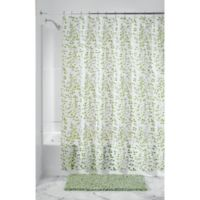 iDesign® Vine PEVA Shower Curtain in Green/White