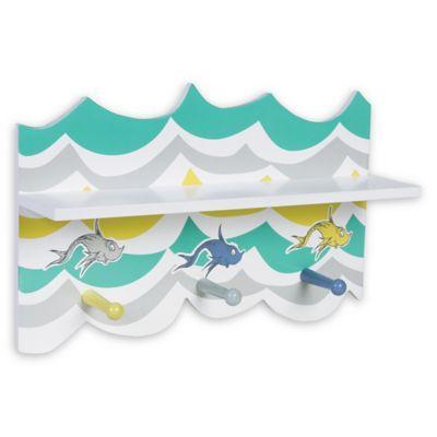trend lab dr seuss new fish wall shelf