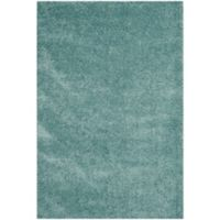 Safavieh California Shag 6-Foot 7-Inch x 9-Foot 6-Inch Irvine Rug in Light Blue