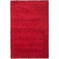 Safavieh California Shag 6-Foot 7-Inch x 9-Foot 6-Inch Irvine Rug in Red