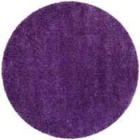Safavieh Milan Shag 3-Foot x 3-Foot Sienna Rug in Purple