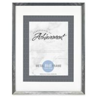 Gallery Matted Brushed Metal Document Frame in Gunmetal