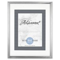 Gallery Matted Brushed Metal Document Frame in Silver