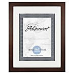 Gallery Matted Wood Document Frame in Espresso