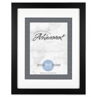 Gallery Matted Wood Document Frame in Black