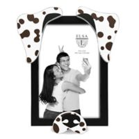 Elsa L 4-Inch x 6-Inch Spotted Dog Picture Frame
