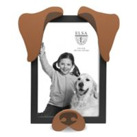 Elsa L 4-Inch x 6-Inch Brown Dog Picture Frame