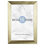 Gallery 4-Inch x 6-Inch Brushed Metal Frame in Gold