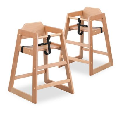 High Chairs U003e Flash Furniture Baby High Chairs In Natural (Set Of ...