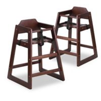 Flash Furniture Baby High Chairs In Walnut Set Of 2