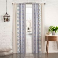 Pairs to Go™ Mantra 84-Inch Rod Pocket Window Curtain Panel Pair in Blue
