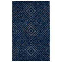 Kaleen Evanesce Woodblock 2-Foot x 3-Foot Accent Rug in Blue