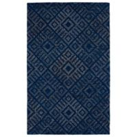 Kaleen Evanesce Woodblock 5-Foot x 7-Foot 9-Inch Area Rug in Blue