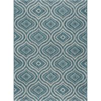 Tayse Rugs Veranda Geometric Indoor/Outdoor 7-Foot 10-Inch x 10-Foot 3-Inch Area Rug in Blue