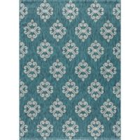 Tayse Rugs Veranda Geo Indoor/Outdoor 7-Foot 10-Inch x 10-Foot 3-Inch Area Rug in Teal