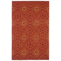 Kaleen Nomad Tribal 3-Foot 6-Inch x 5-Foot 6-Inch Area Rug in Red