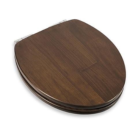 Wooden Black Walnut Round Toilet Seat Bed Bath Amp Beyond