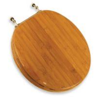 Wooden Bamboo Rattan Round Toilet Seat