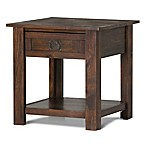 Simpli Home Monroe End Table with Distressed Charcoal Brown Stain