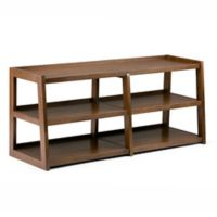 Simpli Home Sawhorse 60-Inch Wide TV Media Stand in Saddle Brown
