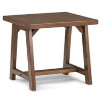 Simpli Home Sawhorse 22-Inch End Table in Saddle Brown
