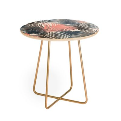 Deny Designs Emanuela Carratoni Jungle Round Side Table In Pink