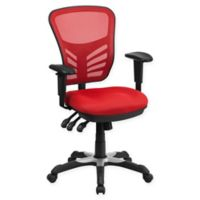 Flash Furniture Mid-Back Mesh Chair in Red