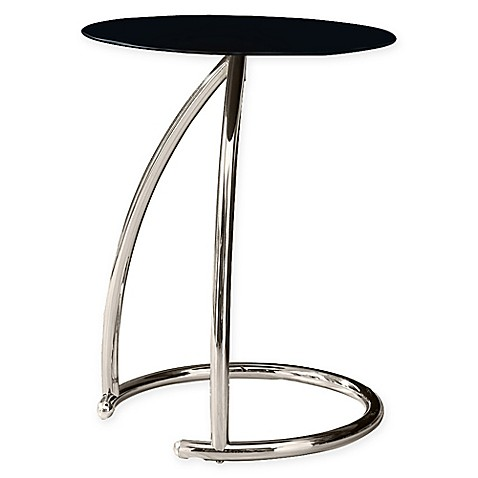 Monarch Specialties 23 Inch Chrome Accent Table With Glass