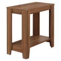 Monarch Specialties 22-Inch Side Table in Walnut