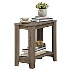 Monarch Specialties 22-Inch Side Table in Dark Taupe