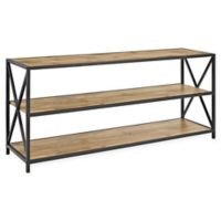 "Forest Gate 60"" Blair Industrial Modern Media Bookshelf in Barnwood"