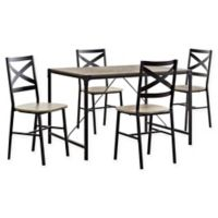 Forest Gate 5inPiece Wheatland Industrial Modern Wood Dining Set in Driftwood