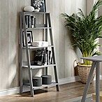 Forest Gate 4-Tiered Ladder Bookcase in Grey