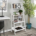 Forest Gate 4-Tiered Ladder Bookcase in White