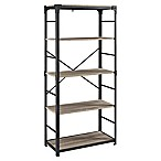 Forest Gate Wheatland Angle Iron Bookshelf in Driftwood