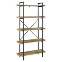 Forest Gate Urban Pipe Bookcase in Barnwood