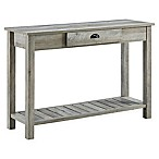 Forest Gate Country Style Console in Grey Wash