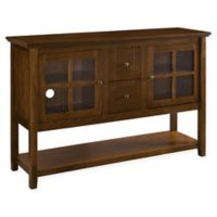 """Forest Gate 52"""" Jackson Farmhouse Wood Console Buffet TV Stand in Walnut"""