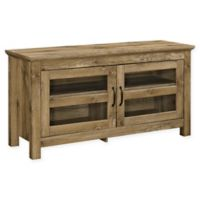 """Forest Gate Ben 44"""" Traditional Wood TV Media Stand Storage Console in Barnwood"""