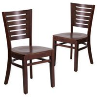 Flash Furniture Slat Back Walnut Wood Chairs (Set of 2)