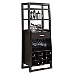 Monarch Specialties 60-Inch Home Bar in Cappuccino