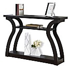 Monarch Specialties 47-Inch Hall Console Table in Cappuccino