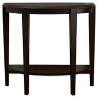 Monarch Specialties 36-Inch Hall Console Table in Cappuccino