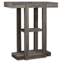 Monarch Specialties 32-Inch 3-Tiered Hall Console Table in Dark Taupe