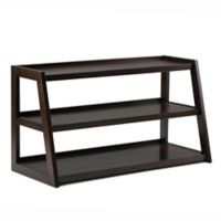 Simpli Home Sawhorse 48-Inch TV Stand in Dark Chestnut Brown