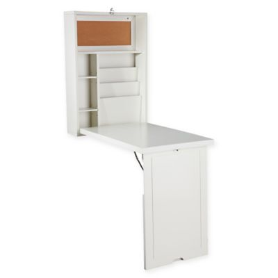 Southern Enterprises Fold Out Convertible Desk In Winter White