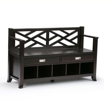 Sea Mills Entryway Bench In Espresso Brown