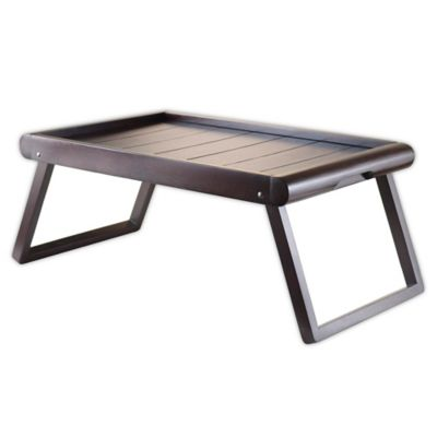 Captivating Winsome Trading Elise Breakfast Tray In Espresso
