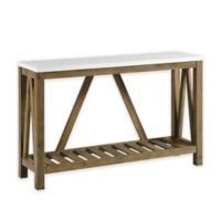 """Forest Gate 52"""" Charlotte Rustic Entry Console Table in Walnut"""