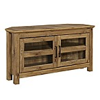 Forest Gate Barnwood 44-Inch Corner TV Stand Console in Brown